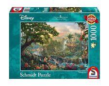 Schmidt Spiele 59473 DISNEY IL LIBRO DELLA GIUNGLA PUZZLE da Thomas Kinkade (1000P.