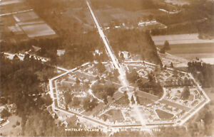 1923-RP-POSTCARD-WHITELEY-VILLAGE-FROM-THE-AIR-HERSHAM-SURREY-28TH-APRIL-1923