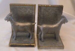 Hearth /& Hand with Magnolia Book Ends Galvanized Goat Bookends Set of 2
