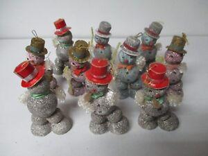 10-Wonderful-Vintage-Japan-SNOWMAN-Christmas-Ornaments