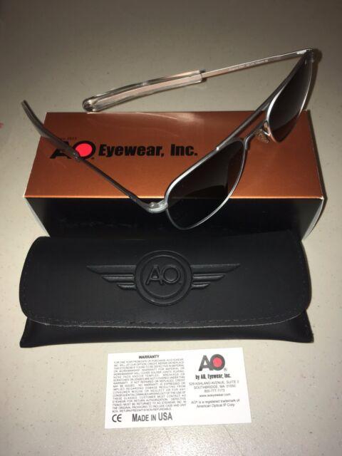 f2988af2f59 American Optical Original Pilot Bayonet 57 Matte Chrome TC Grey Sunglasses  30138 for sale online