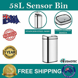 New-58L-Stainless-Steel-Bin-Automatic-Motion-Sensor-Rubbish-Waste-Trash-Kitchen
