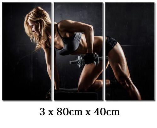 Dekoart Design images la fresque Art pression Fitness toile image 3 x 80cm x 40cm