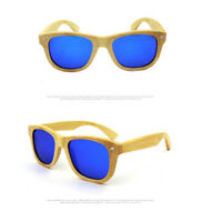 New Vintage Men Women Bamboo Wooden Sunglasses Polarized Wood Glasses With Case