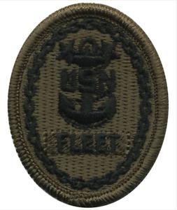 U.S NAVY Embroidered Badge COMMAND FLEET MASTER CPO Type III WOODLAND DIGITAL
