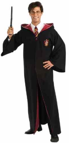 Harry Potter Gryffindor Robe Wizard Fancy Dress Halloween Deluxe Adult Costume