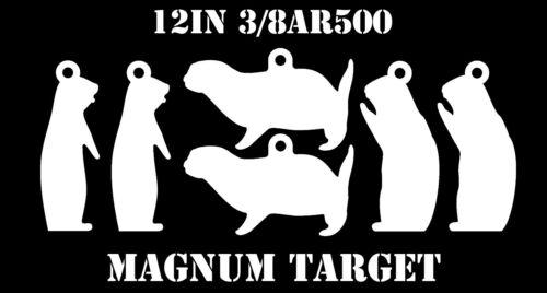 "12/"" Steel Shooting Targets 6pc 3//8/"" AR500 Prairie Dog Animal Silhouette"