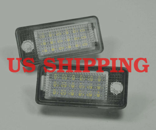 Xenon White Error Free LED License Plate Lights Lamps For Audi A3 A4 A6 S6 A8 Q7