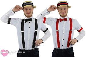 UK Flag English Fancy Dress Black Bowler Hat Bow Tie Braces GB Royal World Cup