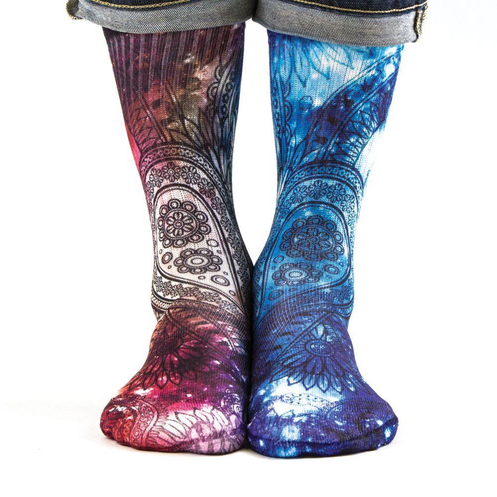 Samson ® 3D Imprimé Chaussettes Sublimation Galaxie Espace Galaxie Sublimation Cachemire mixte Perse coton 192420