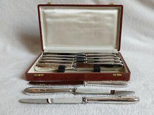 Menagere-12-Couteaux-Metal-argente-et-lame-Inox