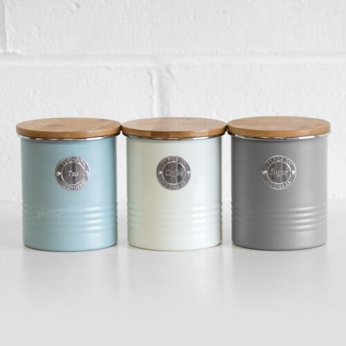 Metal Tea Coffee Sugar Kitchen, Metal Storage Canisters