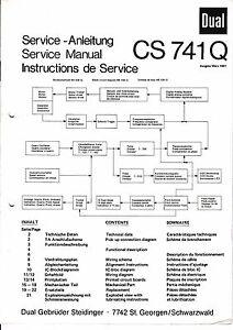Instrucciones-Manual-de-servicio-para-Dual-CS-741Q