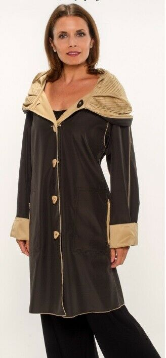 "UBU por departamento  39"" Reversible parisino con bolsillos con cremallera  Color  Negro shell  exclusivo"