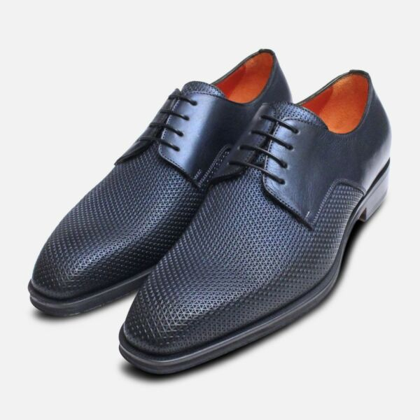 100% De Calidad Metálico Azul Marino Cota De Malla Diseñador Italiano Zapatos-ver