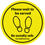 thumbnail 2 - Social Distancing Floor Stickers Signs 200mm Safe Distance 2m Self Adhesive