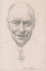 FRAN-SUTTON-Pencil-Drawing-MALE-PORTRAIT-WEARING-MEDAL-ORDER-1978