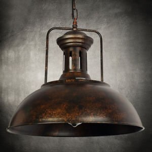 "Industrial Nautical Barn Pendant Light 16"" Single Pendant Lamp with Metal Dome"