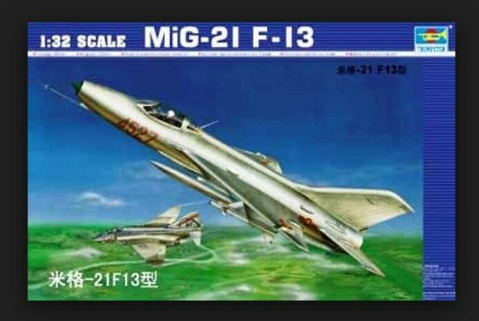 02210 Trumpeter Static Fighter WarJet Aircraft Model Soviet  Mig-21 F-13 1 32  les ventes chaudes