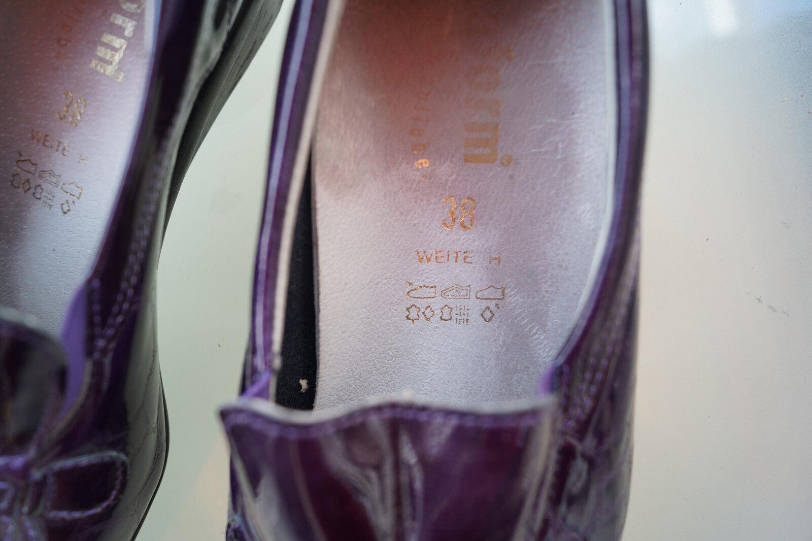 VITAFORM Damen Comfort Schuhe Slipper Leder Mokassins Gr.38 lila Lack Leder Slipper TOP #4k 8731ff