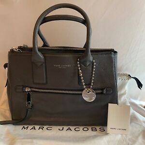 ae9ce69bc093 Marc Jacobs Recruit East West Tote Large Leather Bag NWT Shadow Grey ...