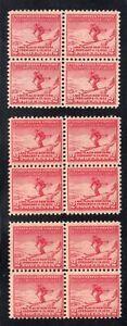1932-Sc-716-MNH-Lake-Placid-Olympics-blocks-of-4
