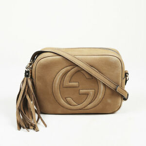 ef1f362d6173 Image is loading Gucci-034-Soho-Disco-034-Nubuck-Suede-Crossbody-