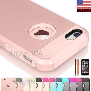 Hybrid-Rugged-Rubber-Hard-Shockproof-Case-Cover-Skin-for-Apple-iPhone-5-SE-5S