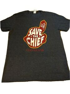 Cleveland-Indians-Save-The-Chief-Chief-Wahoo-Gildan-Brand-T-Shirt-Men-Sz-Large
