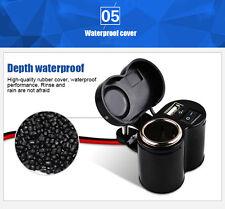 Waterproof Motorbike Motorcycle GPS sat nav USB Charger Power Adapter Socket 12V