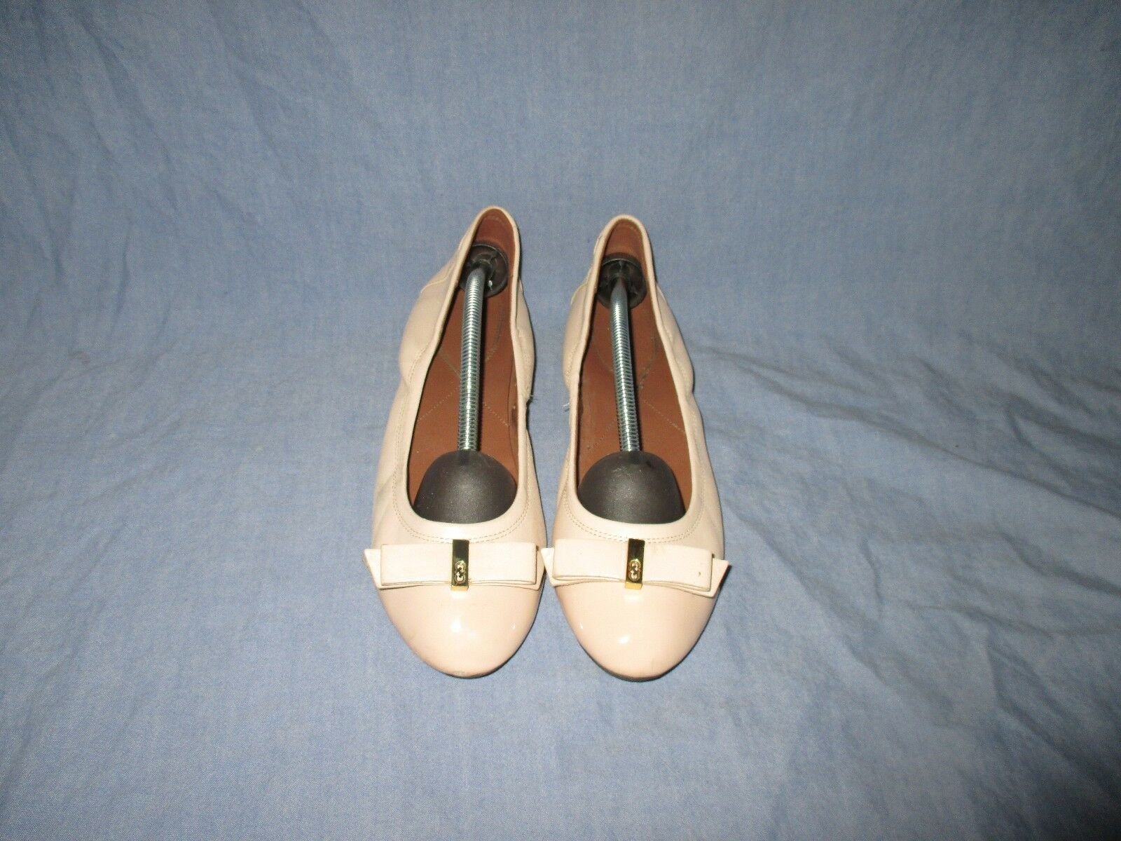 Cole Haan Monica Leather  Ballet Flats Bow Cap Toe Toe Toe Size 9.5 B 7a598f