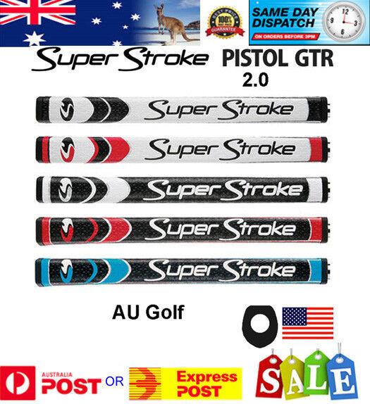 SuperStroke Pistol GTR 2.0 Putter Grip - Super Stroke Black White -Fast Dispatch
