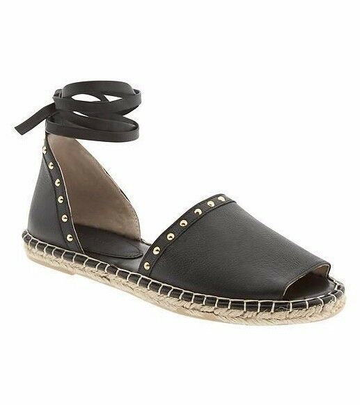 NEW Banana Republic Shoes Womens Clea Espadrilles Flats Shoes Republic Leather Black 10 42 $120 9a3fdf