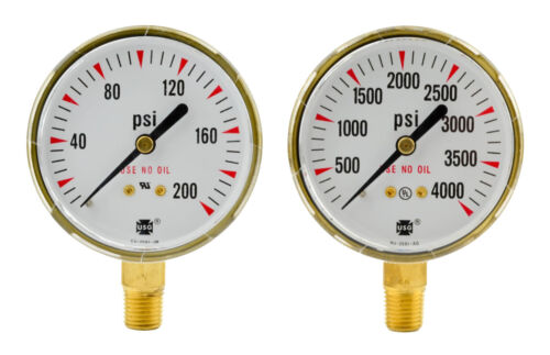 "2-1//2/"" x 200 PSI /& 4000 PSI Welding Regulator Repair Replacement Gauges Oxygen"
