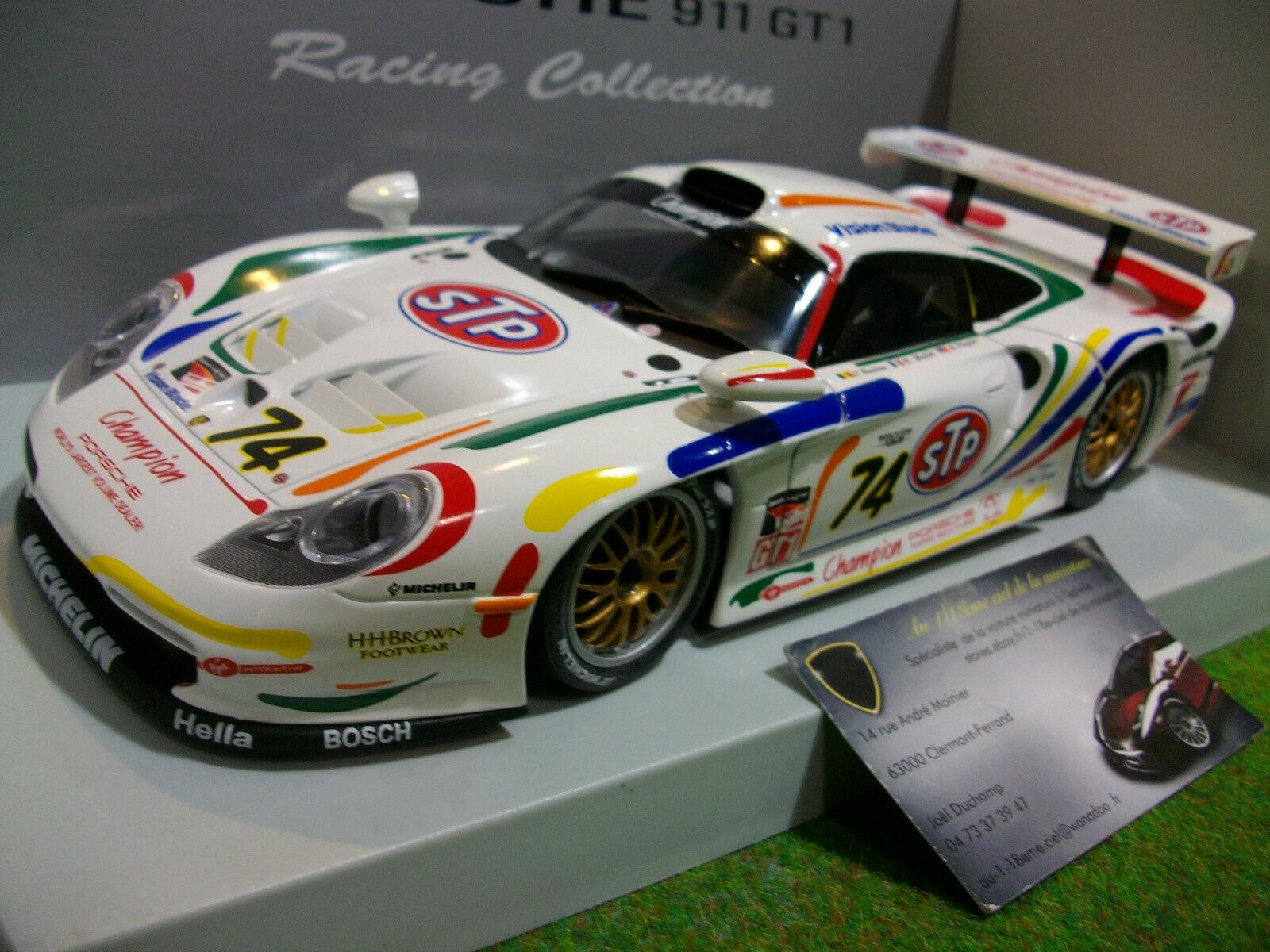 PORSCHE 911 GT1 1998 STP  74 BOUTSEN 1 18 UT Models 39810 voiture miniature