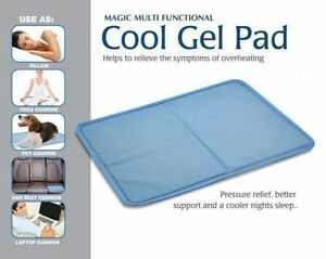 new cold cooling pillow chilled laptop gel mat pad bed cool