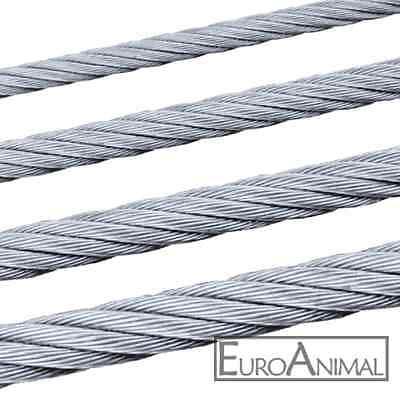 Stahlseil Edelstahl-Seil V4A 8mm 7x19 Stahl-Draht-Seil  Nirosta VA V2A  Niro