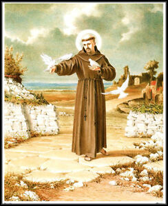 ST-FRANCIS-OF-ASSISI-8x10-Catholic-Art-Print-Picture-Printed-in-Germany