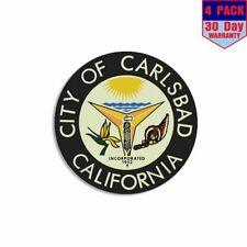 4x4 inch Hermosa Beach California City Seal Star Sticker Logo CA West Coast