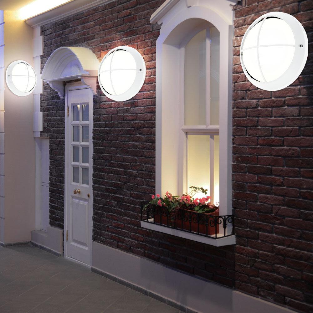 Juego de 3 LED Lámpara de techo exterior Parojo Luz Balcón Vidrio rojoondo ahorro de energía