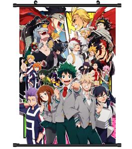 3885 Anime My Boku no Hero Academia wall Poster Scroll A