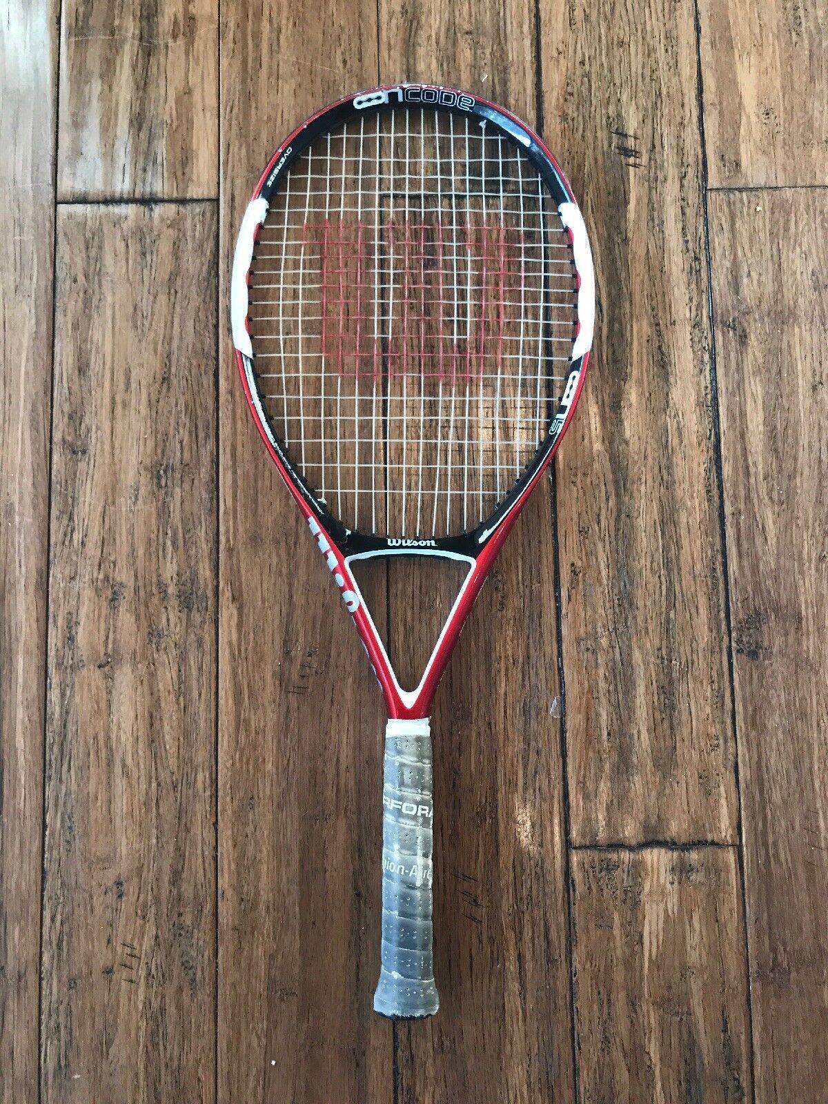 WILSON nCode N5 Force Tennis Racquet 27.25  Long 264 Grams Red 16x20 4 1 2