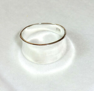 breiter-Bandring-925-Sterling-Silber-Hochglanz-Ring-Gr-55-56-Unisex-Neu