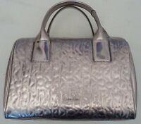 Calvin Klein Silver Tone Embossed Shoulder Bag. Rrp £139