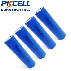 4-18650-3-7V-Li-ion-Rechargeable-Vape-Mod-Batteries-2200mAh-Flat-Top-PKCELL