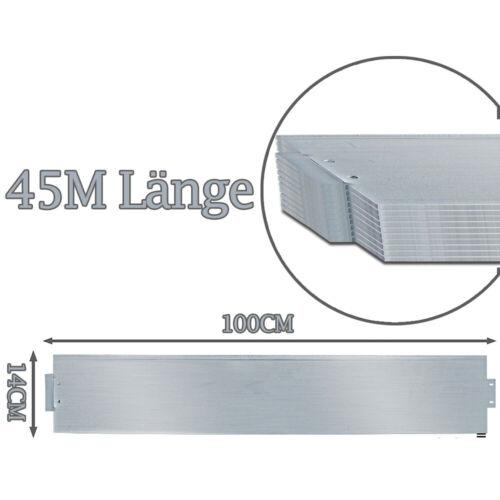 Rasenkante Metallwaren Alu-Einfassung 5-50m Palisade Beetumrandung 14cm Hoch