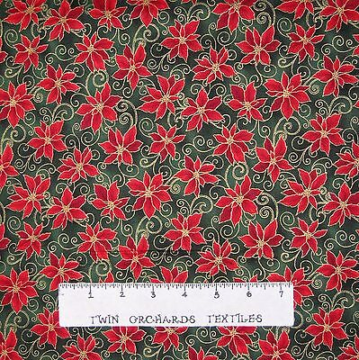 Yard Christmas Fabric Tree Heart Swirl Tonal Beige Cream RJR Holly Jolly