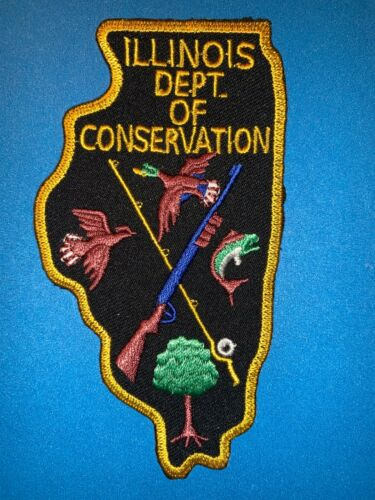 Illinois Department of Conservation Hunting Fishing Hipster Jacket Patch 758T