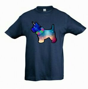 West-Highland-Terrier-Unicorn-Dog-Tee-Shirt-Childrens-Kids-T-Check-Measurement