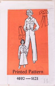 Rare-UNCUT-Printed-Pattern-4692-Vintage-Denim-Jean-Jacket-Skirt-Shorts-amp-Jeans